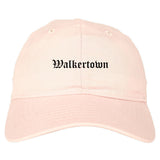 Walkertown North Carolina NC Old English Mens Dad Hat Baseball Cap Pink