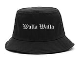 Walla Walla Washington WA Old English Mens Bucket Hat Black