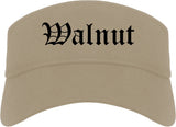 Walnut California CA Old English Mens Visor Cap Hat Khaki