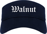 Walnut California CA Old English Mens Visor Cap Hat Navy Blue
