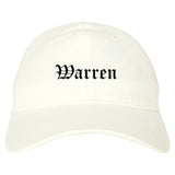 Warren Arkansas AR Old English Mens Dad Hat Baseball Cap White