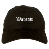 Warsaw Indiana IN Old English Mens Dad Hat Baseball Cap Black