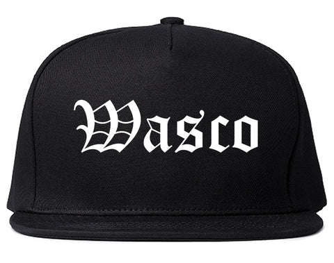 Wasco California CA Old English Mens Snapback Hat Black