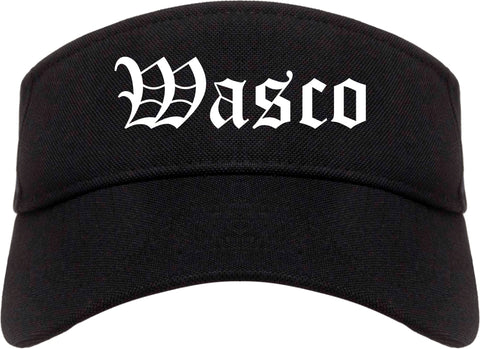 Wasco California CA Old English Mens Visor Cap Hat Black