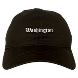 Washington District Of Columbia DC Old English Mens Dad Hat Baseball Cap Black