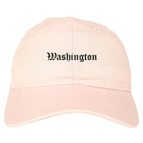 Washington North Carolina NC Old English Mens Dad Hat Baseball Cap Pink