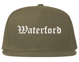 Waterford California CA Old English Mens Snapback Hat Grey