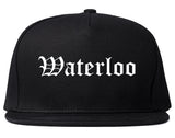 Waterloo Iowa IA Old English Mens Snapback Hat Black