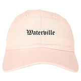 Waterville Maine ME Old English Mens Dad Hat Baseball Cap Pink