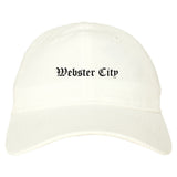 Webster City Iowa IA Old English Mens Dad Hat Baseball Cap White