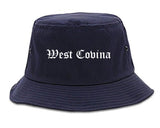 West Covina California CA Old English Mens Bucket Hat Navy Blue