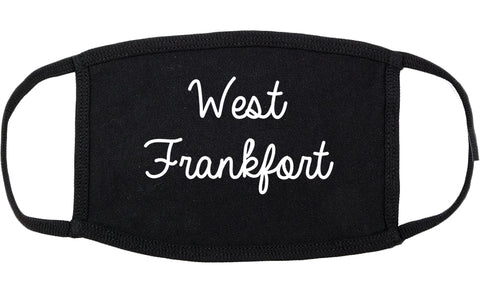 West Frankfort Illinois IL Script Cotton Face Mask Black
