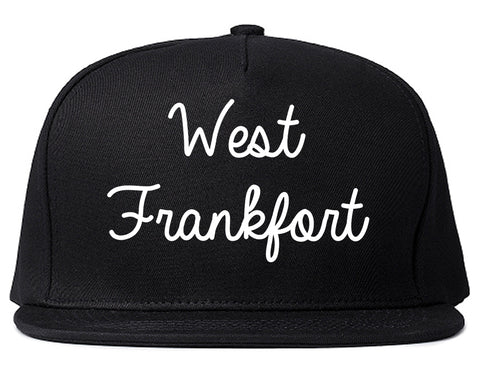 West Frankfort Illinois IL Script Mens Snapback Hat Black
