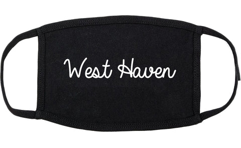West Haven Connecticut CT Script Cotton Face Mask Black