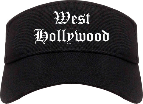West Hollywood California CA Old English Mens Visor Cap Hat Black