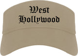 West Hollywood California CA Old English Mens Visor Cap Hat Khaki