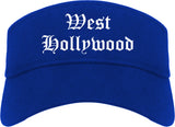 West Hollywood California CA Old English Mens Visor Cap Hat Royal Blue