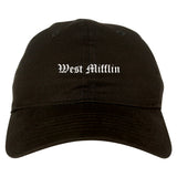 West Mifflin Pennsylvania PA Old English Mens Dad Hat Baseball Cap Black
