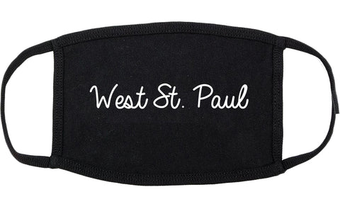 West St. Paul Minnesota MN Script Cotton Face Mask Black