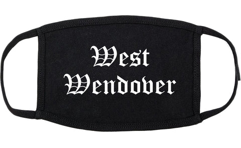 West Wendover Nevada NV Old English Cotton Face Mask Black