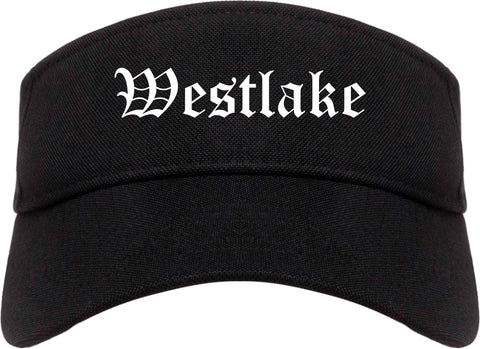 Westlake Louisiana LA Old English Mens Visor Cap Hat Black