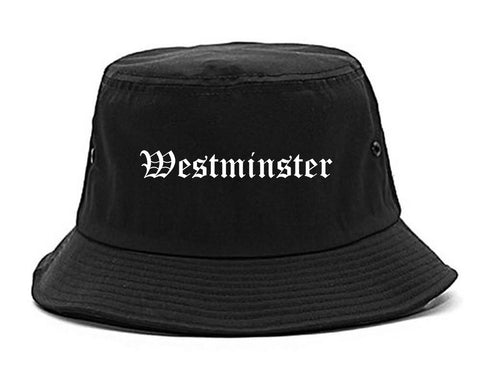 Westminster California CA Old English Mens Bucket Hat Black