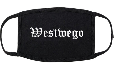Westwego Louisiana LA Old English Cotton Face Mask Black