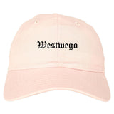 Westwego Louisiana LA Old English Mens Dad Hat Baseball Cap Pink
