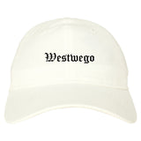 Westwego Louisiana LA Old English Mens Dad Hat Baseball Cap White
