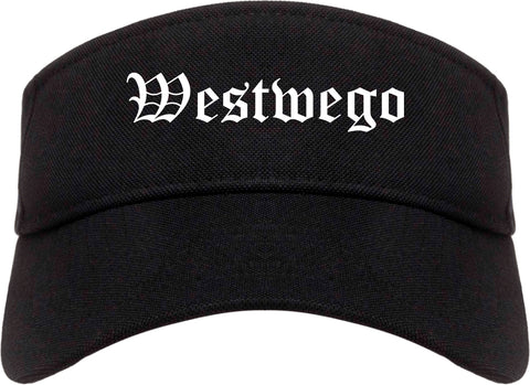Westwego Louisiana LA Old English Mens Visor Cap Hat Black