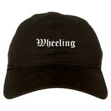 Wheeling Illinois IL Old English Mens Dad Hat Baseball Cap Black