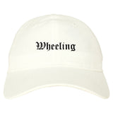 Wheeling Illinois IL Old English Mens Dad Hat Baseball Cap White