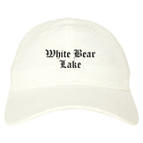 White Bear Lake Minnesota MN Old English Mens Dad Hat Baseball Cap White