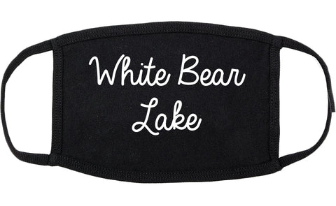 White Bear Lake Minnesota MN Script Cotton Face Mask Black