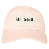 Whitehall Ohio OH Old English Mens Dad Hat Baseball Cap Pink