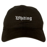 Whiting Indiana IN Old English Mens Dad Hat Baseball Cap Black