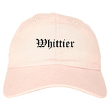 Whittier California CA Old English Mens Dad Hat Baseball Cap Pink