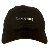 Wickenburg Arizona AZ Old English Mens Dad Hat Baseball Cap Black