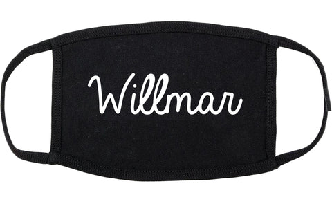 Willmar Minnesota MN Script Cotton Face Mask Black
