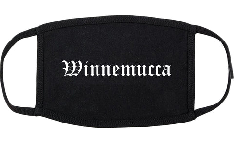 Winnemucca Nevada NV Old English Cotton Face Mask Black