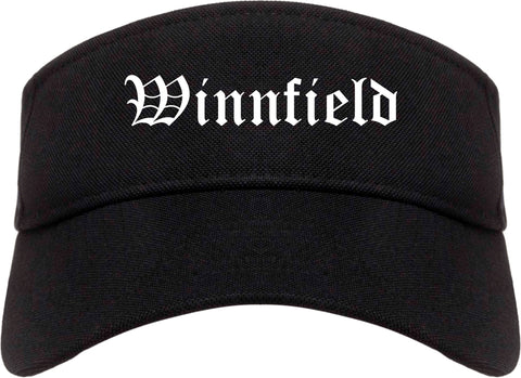 Winnfield Louisiana LA Old English Mens Visor Cap Hat Black