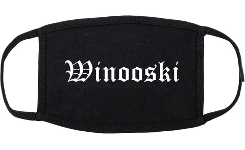 Winooski Vermont VT Old English Cotton Face Mask Black