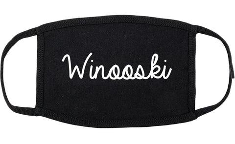 Winooski Vermont VT Script Cotton Face Mask Black