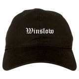 Winslow Arizona AZ Old English Mens Dad Hat Baseball Cap Black