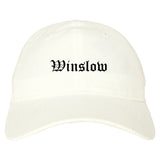 Winslow Arizona AZ Old English Mens Dad Hat Baseball Cap White