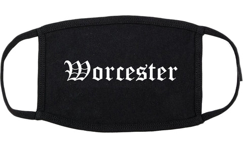 Worcester Massachusetts MA Old English Cotton Face Mask Black