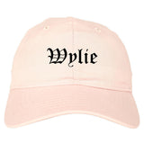 Wylie Texas TX Old English Mens Dad Hat Baseball Cap Pink