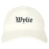 Wylie Texas TX Old English Mens Dad Hat Baseball Cap White