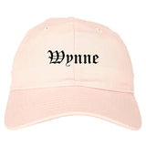 Wynne Arkansas AR Old English Mens Dad Hat Baseball Cap Pink