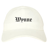 Wynne Arkansas AR Old English Mens Dad Hat Baseball Cap White
